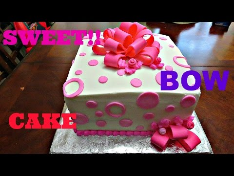 How to make a Fondant Bow for a Cake