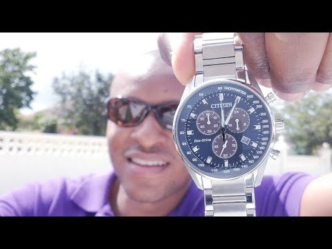 CITIZEN 39mm Eco Drive Chronograph AT2390-82L Watch Review