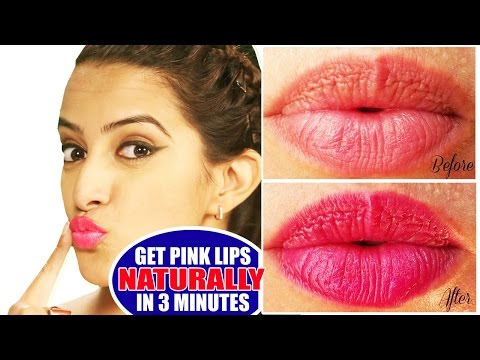 Get Pink Lips Naturally | Pink Lips in 3 minutes- Home Remedies