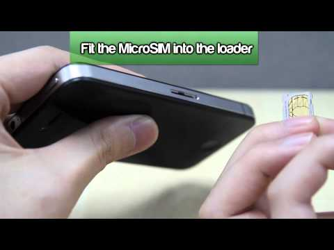 How to Insert a SIM Card into Apple iPhone 4/4S