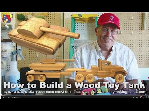 Wood Toy Plans - Make a Wood Toy Tank