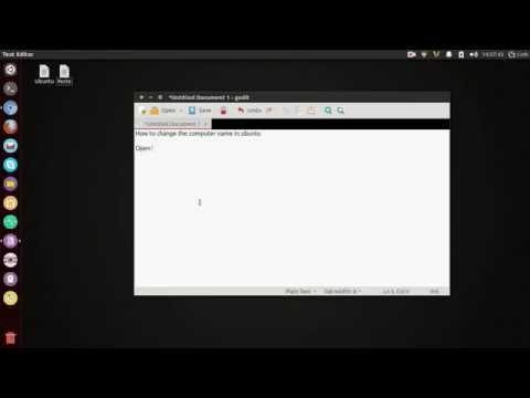 Ubuntu - How to change the computer name in Ubuntu 14.04 LTS