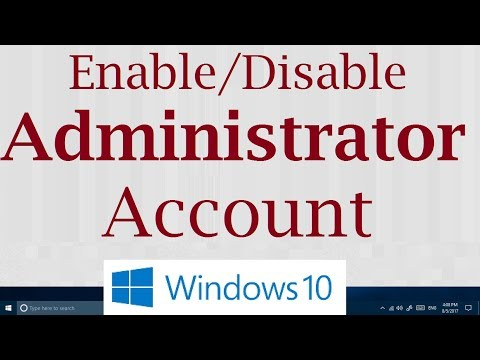 How to Enable/Disable Default Hidden Administrator Account in Windows 10 (Simple)