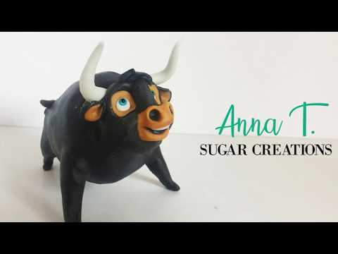 Ferdinand The Bull Sugar Paste Topper Tutorial
