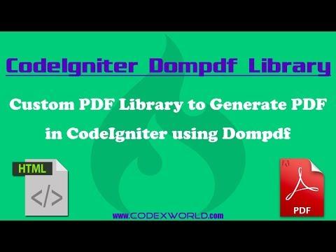 Convert HTML to PDF in CodeIgniter using Dompdf