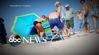 Woman impaled by beach umbrella prompts safety warning