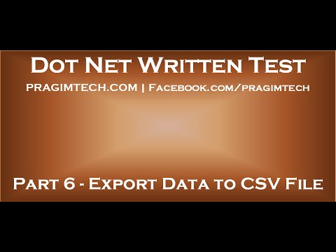 Part 6   Export data from sql server database tables to csv file using asp net and c#