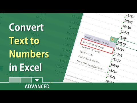 Excel convert text to values or numbers by Chris Menard