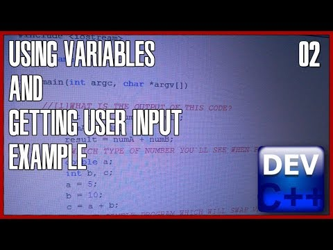 C++ programming for beginners 02 - Variables and user input
