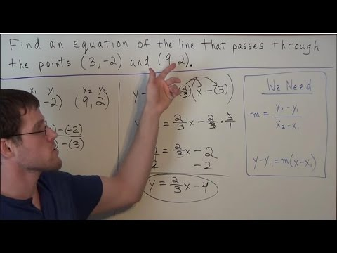Writing an Equation of a Line (that passes through two points)  - Algebra