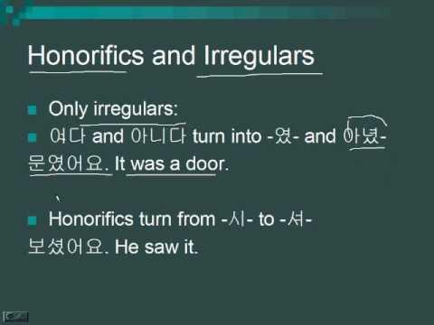 Lesson 22 - Past Tense in Korean