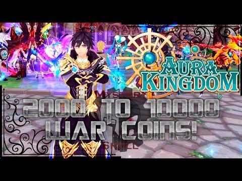 AuraKingdom - Easy War Coins 2000 to 10000 Daily!