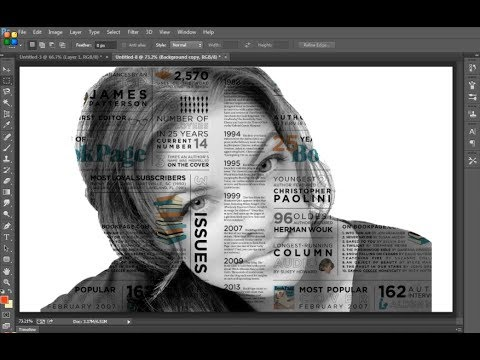 Photoshop CC -  Make text pattern on the face using photoshop