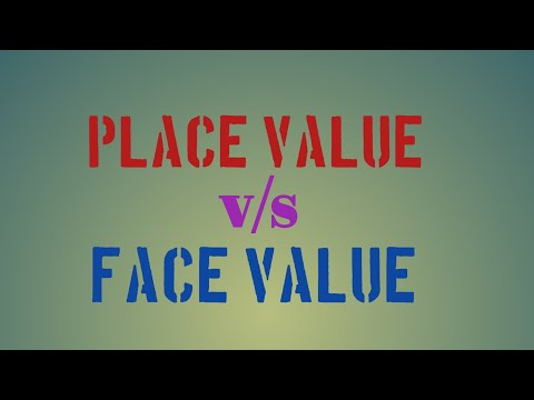 Difference between place value and face value of a number