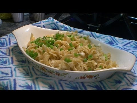 Parmesan Buttered Noodles with Garlic    Easy Pasta recipe