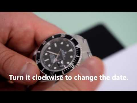 How to change the date and time on a Rolex Perpetual Watch?