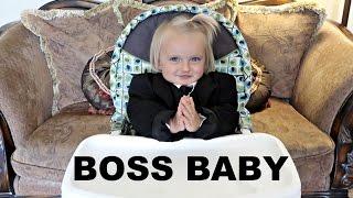 BOSS BABY CHALLENGE!!   THE BOSS RETURNS!