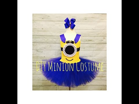 DIY Minion Tutu Dress Costume