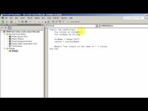 Test Length Of Text String - VBA Len Function
