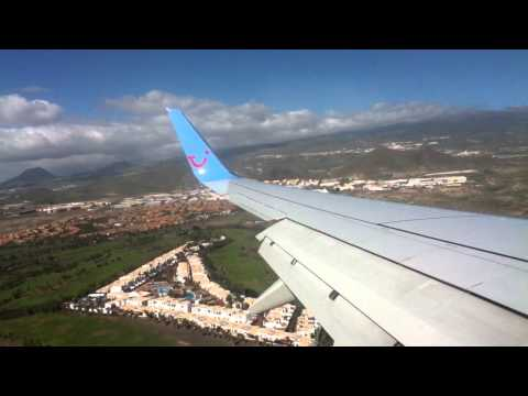 Thomson Airways 737 G-TAWF Landing At Tenerife South Airport HD