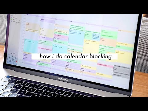 CALENDAR BLOCKING // Time Management for Students