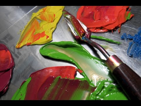 DESIGNER SPOT - Palette Knife Painting & How to Thicken Paint