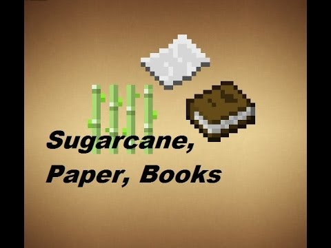 Minecraft - Crafting Recipes - Sugarcane, Paper & Books