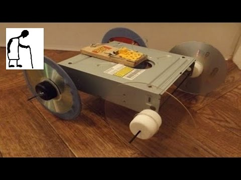 Things you can make from an old DVD drive #5 Mousetrap Car