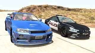 Crazy Police Chases #56 - BeamNG Drive Crashes