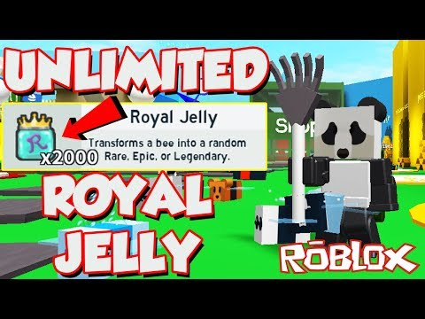 *Omg* GETTING UNLIMITED ROYAL JELLIES IN ROBLOX BEE SWARM SIMULATOR! *Royal Jelly Giveaway*