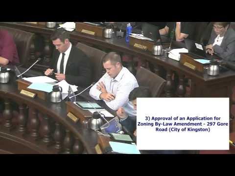 Kingston Ontario - City Council Meeting - September 20, 2016