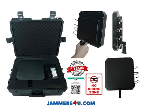 UAV Drone Quad-copter Jammer video demo test CT-4002P