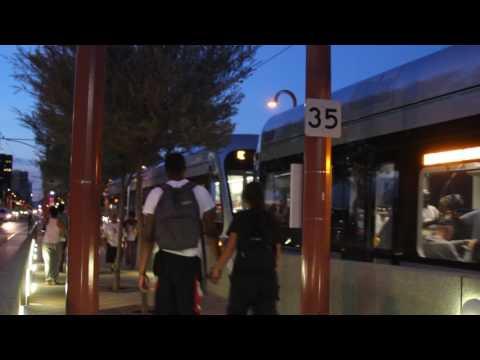 Arizona Valley Metrorail Departing At Night - Free Stock Footage