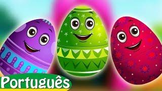 Ovos Surpresa com Brinquedos de Canções de Ninar | Cinco Macaquinhos | ChuChu TV