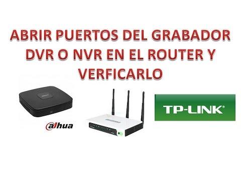 Abrir Puertos del Router TP-LINK - DVR