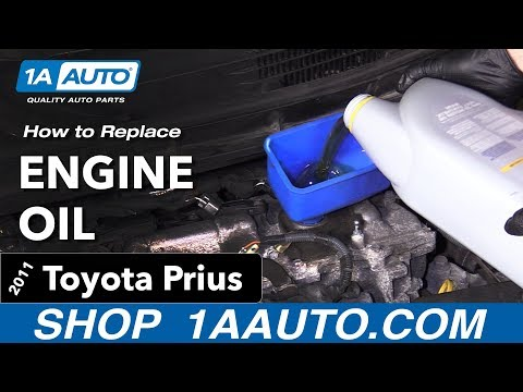 How to Change Engine Oil 10-15 Toyota Prius