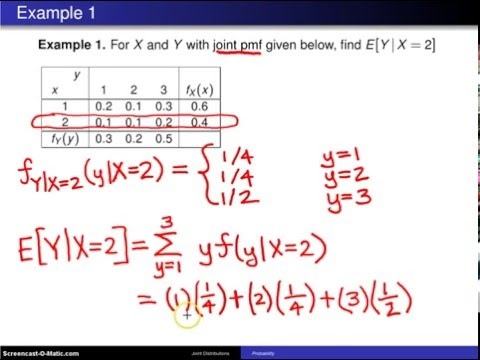 Conditional expectation -- Example 1