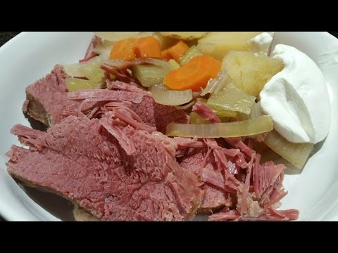 Corned Beef In The Slow Cooker - FLAT CUT