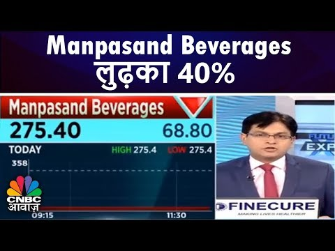 Manpasand Beverages 40% लुढ़का   Futures Express   CNBC Awaaz