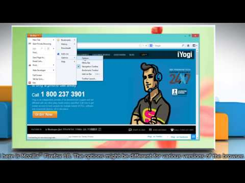 How to block cookies on Mozilla® Firefox in Windows® 8
