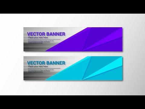 Illustrator Tutorial - Abstract Banner Design