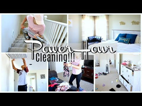 POWER HOUR CLEAN WITH ME | EXTREME CLEANING MOTIVATION