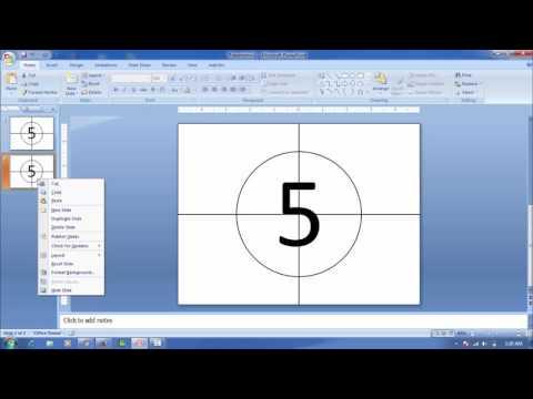 Belajar Membuat Countdown Timer Hitung Waktu Mundur Pada Microsoft Office Powerpoint 2007