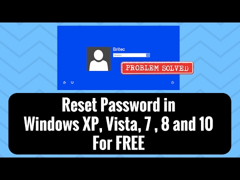 Reset Password in Windows XP, Vista, 7 For FREE by Britec