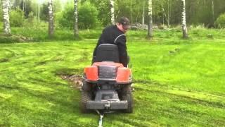 Husqvarna Rider 4WD sitter fast