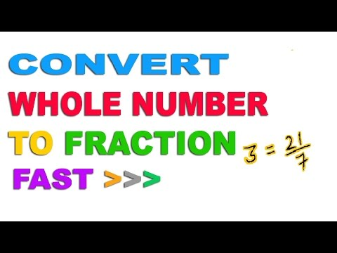Convert Any Whole Number to Fraction - Hindi (2016)