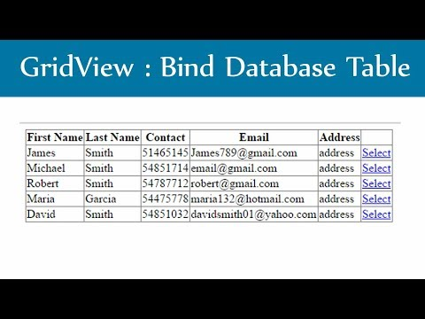Asp.Net Gridview :  Bind Database Table