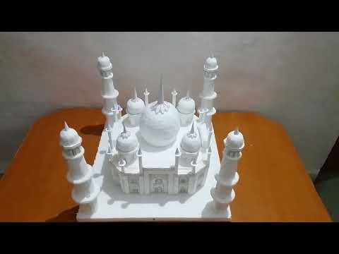 How to make Taj Mahal model made up of thermocol for school project and exhibitions