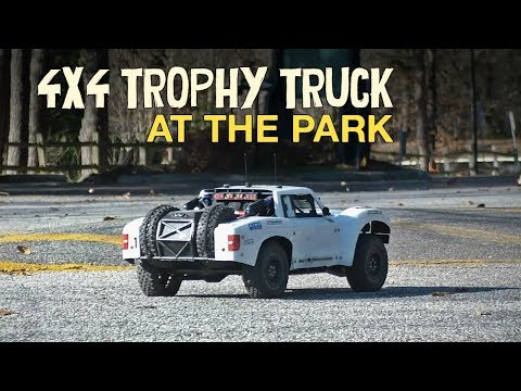 Messing Around at the Park | Custom 4x4 RC Trophy Truck