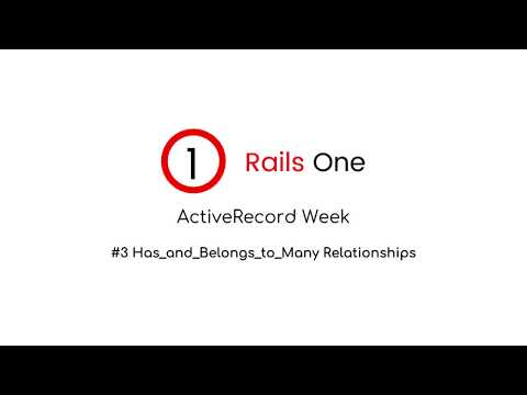 #3 Has And Belongs To Many Relationships With Active Record